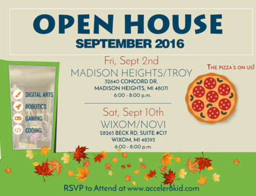 New Date and Time for Open House 2016